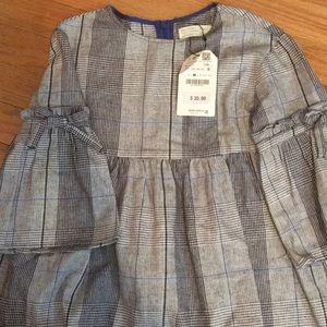 Zara girls plaid dress